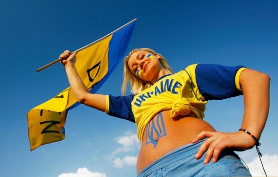 Фанаты Украины на Евро 2012