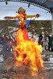 ЧУЧЕЛО СОЖЖЕНО - в «парке Киевская Русь» прошло грандиозное празднование масленицы с воссозданием древнейших обрядов